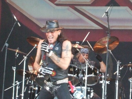 Stephen Pearcy and Bobby Blotzer from Ratt Live at the Sweden Rock Festival 2008
