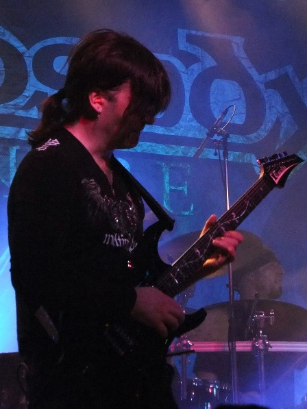 Luca Turilli on guitars with Rhapsody live in France