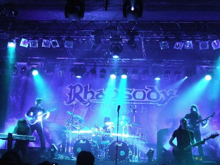 Rhapsody Of Fire live - Alex Staropoli, Luca Turilli, Alex Holzwarth, Patrice Guers and Dominique Leurquin