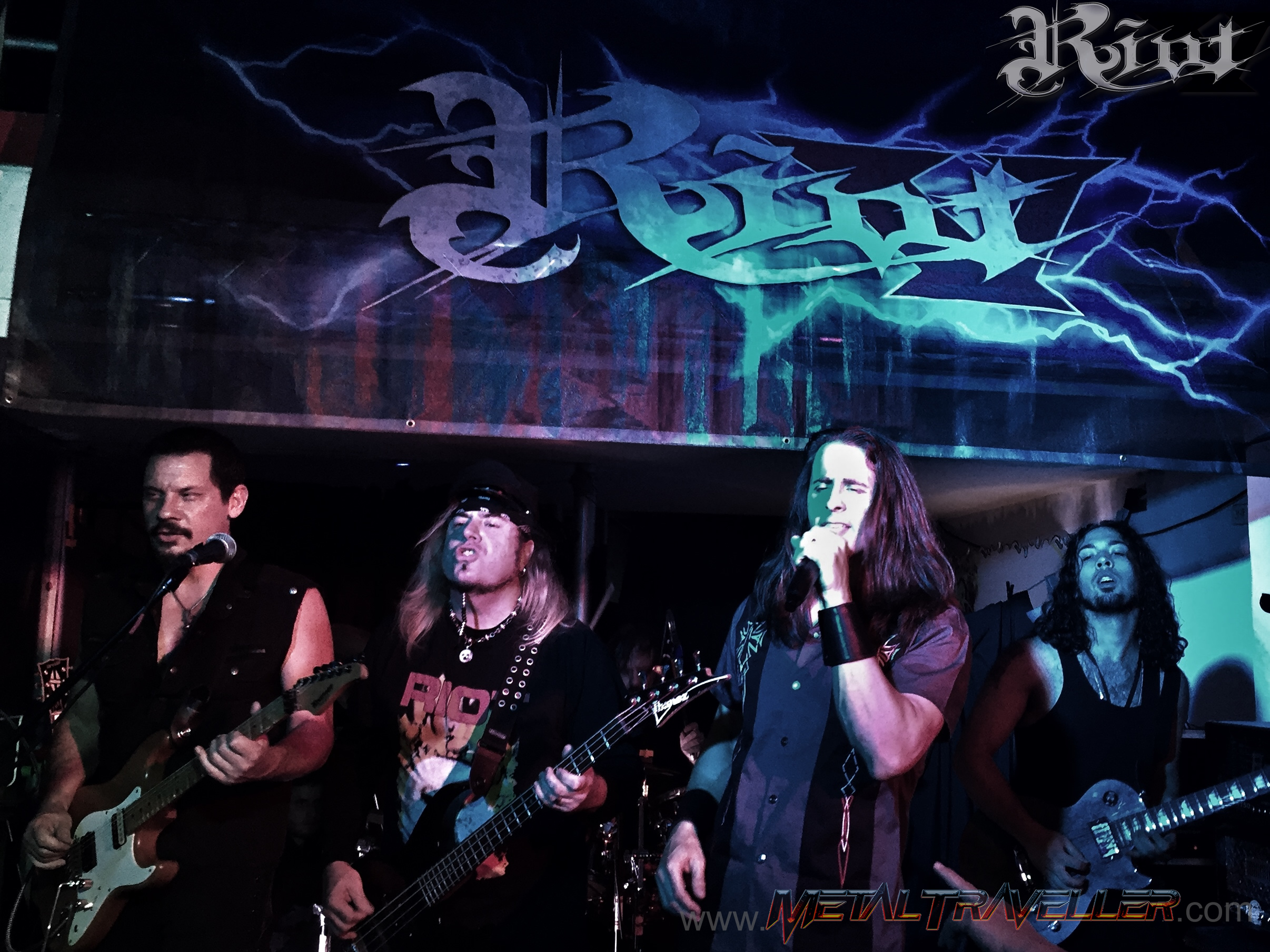 Riot V live at Jaguar Bar in Bogotá Colombia