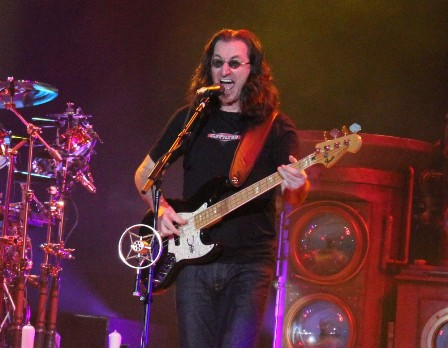 Geddy Lee at the Festhalle in Frankfurt, Germany