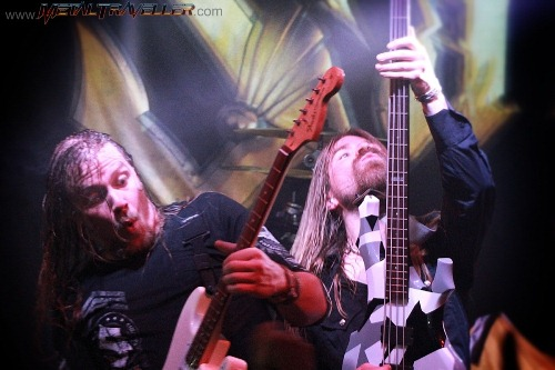 Thobbe Englund and Pär Sundström from Sabaton, live in Colombia