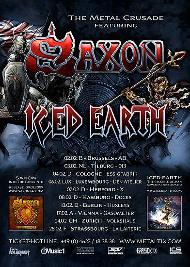 The Metal Crusade featuring Saxon and Ied Earth