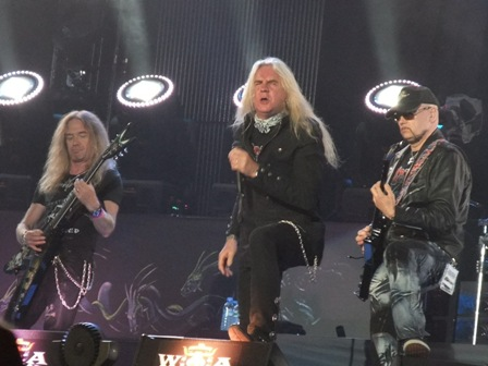 Doug Scaratt, Biff Byford and Paul Quinn: Saxon