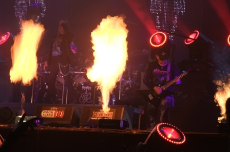 Fire on stage