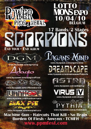 Power Prog and Metal Festival at Lotto Mons Expo