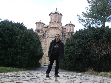 Metal Traveller at the Gračanica Monastery in Serbia