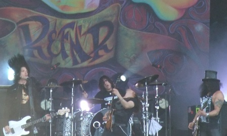 Todd Kerns, Brent Fitz, Myles Kennedy and Slash live at the Hellfest in Clisson