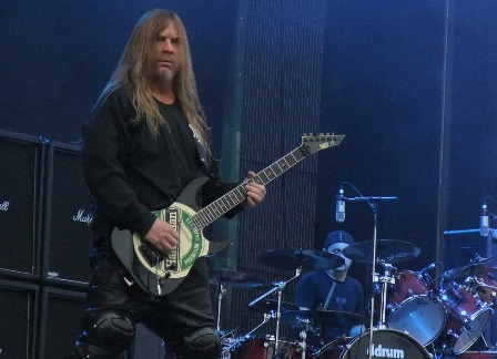 Jeff Janneman of Slayer in Stockholm