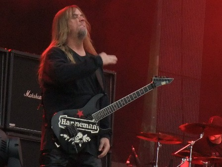 Jeff Hanneman from Slayer live at Romexpo in Stockholm