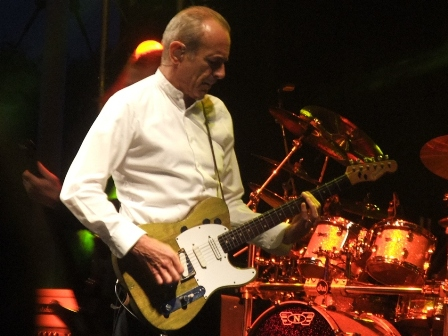 Francis Rossi playing guitars with Status Quo