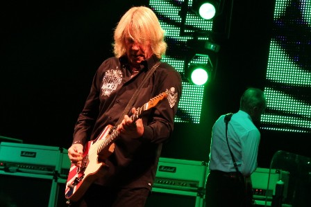 Rick Parfitt and his Union jack guitar, live with Status Quo