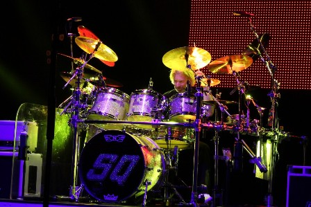 Matt Letley on drums with Status Quo