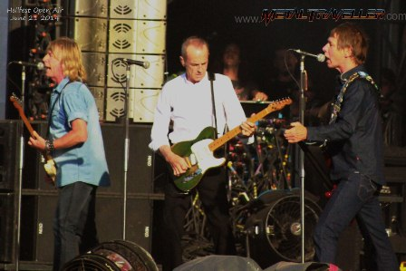 Rick Parfitt, Francis Rossi and Rhino Edwards with Status Quo in France