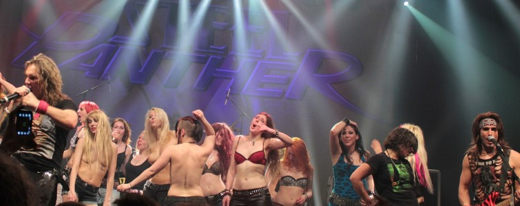 The Steel Panther Boobs Crew from Paris