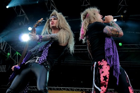 Lexxi Foxx and Michael Starr from Steel Panther
