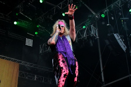 Michael Starr live with Steel Panther at Hellfest Open Air