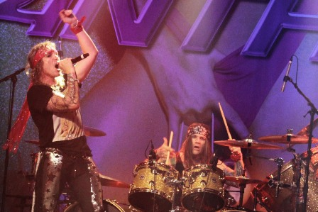 Mchael Starr and Stix Zadinia from Steel Panther
