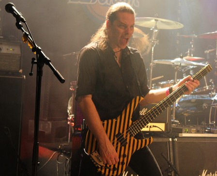 Tim Gaines on bass with Stryper