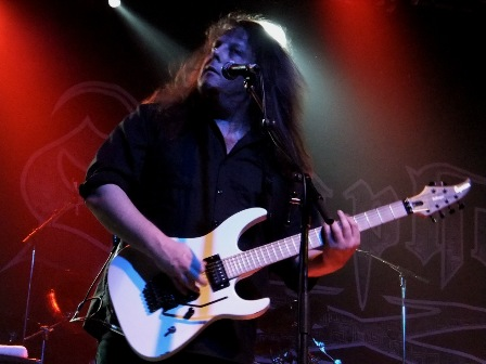 Michael Romeo on lead guitars with Symphony X