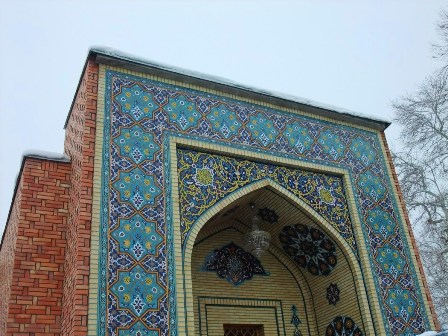 Gate of the Mausoleum of Mir Sayyid Ali Hamadani in Kulob, Tajikistan