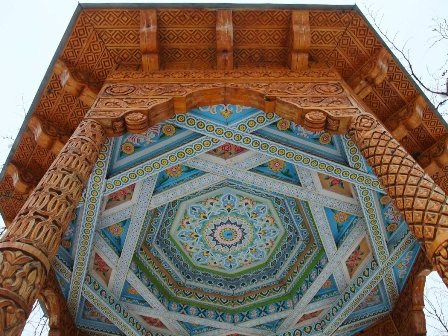 Wooden carved structure near Mir Sayyid Ali Hamadoni mausoleum