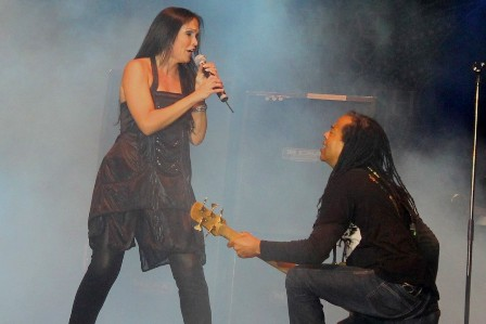 Anders Kjølholm on bass with Tarja