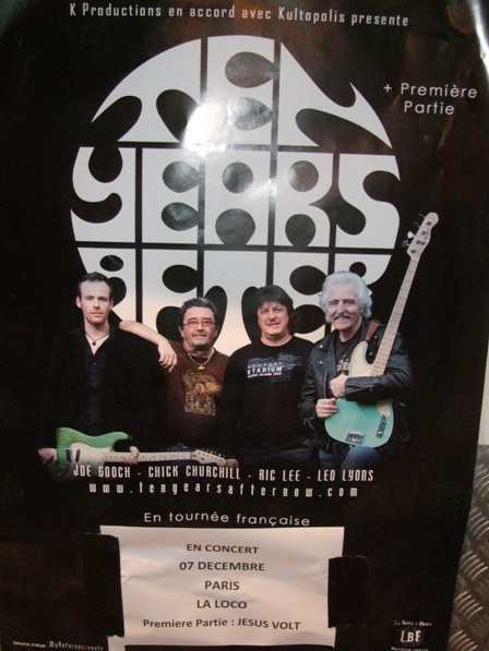 Poster from the Ten Years After show in Paris