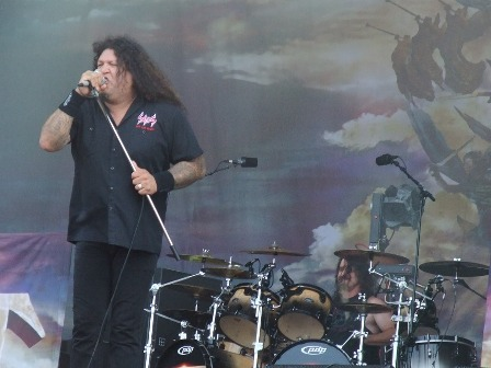 Chuck Billy and Paul Bostaph from Testament live at Wacken Open Air