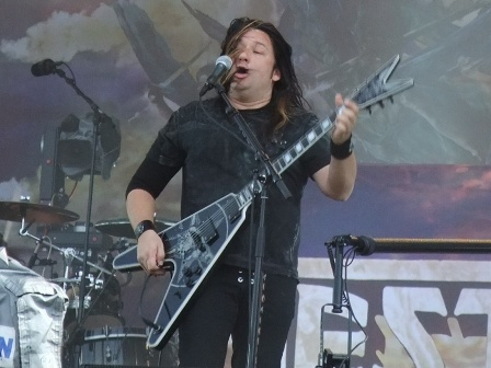 Eric Peterson from Testament in Wacken - August 1 2009