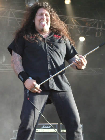 Chuck Billy of Testament at Sweden Rock Fest