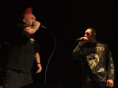 Shawn Beamer with The Exploited live in Paris