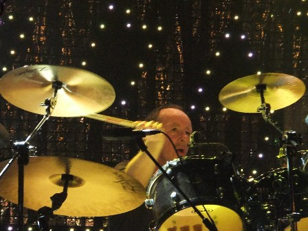 Brian Downey on drums with Thin Lizzy
