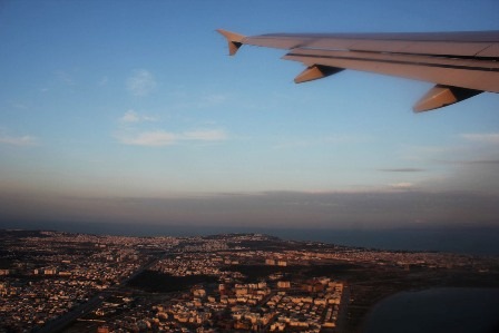 Flying over Tunis