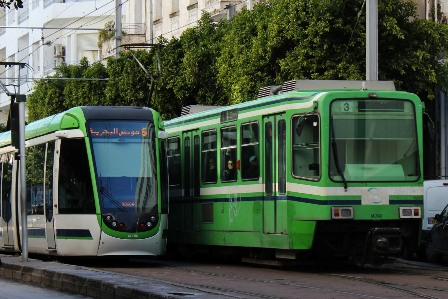 The Tramway, or metro of Tunis