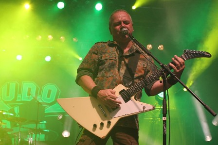Stefan Kaufmann live with U.D.O. at the Alcatraz Metal Festival Belgium