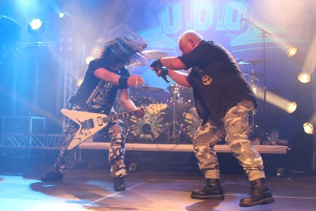 Igor Gianola and Udo Dirkschneider at Alcatraz Metal Fest