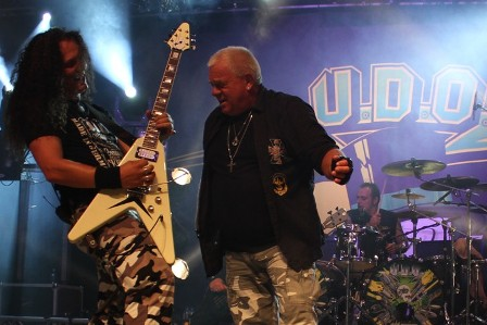 Igor Gianola and Udo Dirkschneider at the Alcatraz Metal Festival, live with U.D.O.
