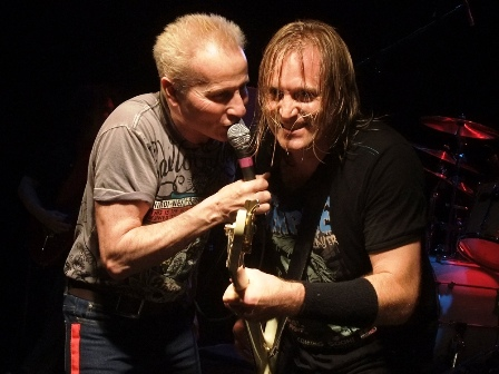 Phil Mogg and Barry Sparks with UFO live in Paris