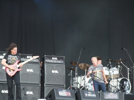 Vinnie Moore, Phil Mogg and Andy Parker from U.F.O. live at Wacken Open Air