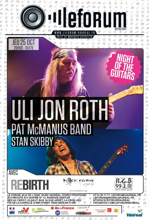 Poster from Uli Jon Roth in Vauréal