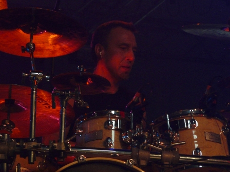 Andreas Lill on drums with Vanden Plas live in Mons at the PPM Fest