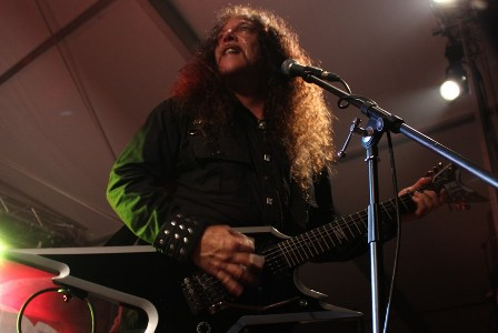 Geoff Thorpe on guitar with Vicious Rumors
