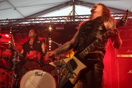 Stet Howland and Chris Holmes from Where Angels Suffer, live at Alcatraz Festival