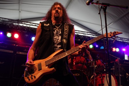 Steve Unger on bass - Where Angels Suffer at Alcatraz Metal Fest