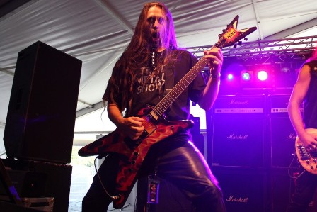 Ira Black at the Alcatraz Metal Festival, live with W.A.S.
