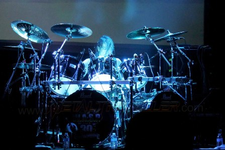 Mike Dupke on drums - WASP live in France