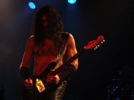 Doug Blair and his custom stained glass guitar with W.A.S.P. in Paris