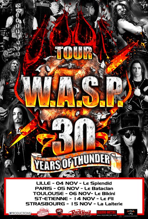 Poster for the 30 Years Of Thunder 2012 Tour