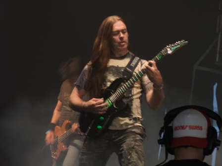 Frank Blackfire as a guest from Whiplash live at Wacken Open Air